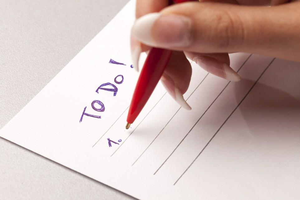 Auf der to-do-Liste: die Steuererklärung.